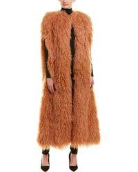 Valentino - Fuzzy Merino Coat - Lyst