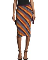Ronny Kobo - Ashlie Eyelets & Stripes Skirt - Lyst