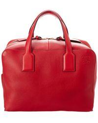 Loewe - Goya Large Leather Duffel Bag - Lyst