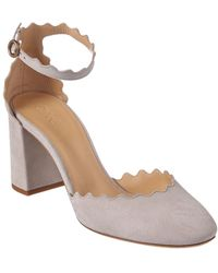 Chloé - Scalloped Suede Ankle-strap Pump - Lyst
