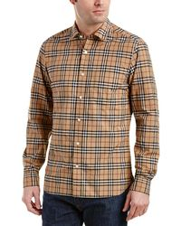 Burberry - Alexander Check Cotton Sport Shirt - Lyst