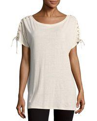 NYDJ - Greenwich Lace-up -shirt - Lyst