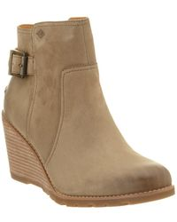 Sperry Top-Sider - Gold Cup Liberty Leather Wedge Ankle Bootie - Lyst