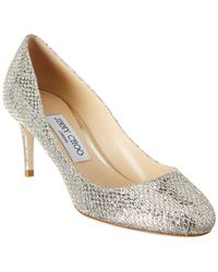 Jimmy Choo - Bridget 65 Glitter Fabric Pump - Lyst