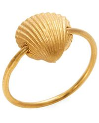 Valentino - Garavani Sea Shell Charm Midi Ring - Lyst