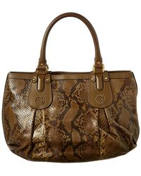 22dbb9bde7b4f0 Lyst - Michael Kors Scarlett Large Quilted Black Leather Tote Bag in ...