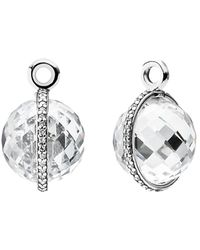 PANDORA - Midnight Star Silver Cz Earring Charms - Lyst