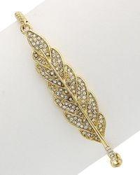 Sparkling Sage - 14k Yellow Gold Plated Crystal Adjustable Bracelet - Lyst