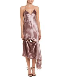 MILLY - Velour Silk-trim Gown - Lyst