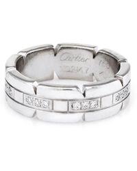 Cartier - Cartier Francaise 18k 0.17 Ct. Tw. Diamond Ring - Lyst