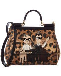 Lyst - Dolce   Gabbana Medium Sicily Handbag In Dauphine Leather ... 68bc1d2e2c506