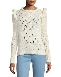 Antik Batik - Melody Open-knit Ruffle Sweater - Lyst