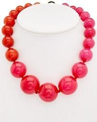 Trina Turk - Havana Club Dyed Jade Necklace - Lyst
