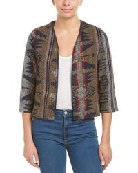 ANAMÁ - Cozy Woven Cropped Wool-blend Jacket - Lyst