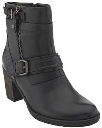 Earth - Montana Mid Calf Leather Bootie - Lyst