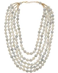Kenneth Jay Lane - Plated Beaded Necklace - Lyst