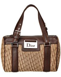 Dior - Christian Brown Trotter Canvas Small Shoulder Bag - Lyst