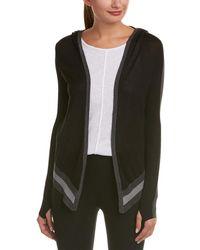 Blanc and Noir - Hooded Silk-blend Wrap Cardigan - Lyst