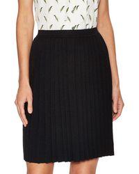 Carolina Herrera - Wool Pleated Skirt - Lyst