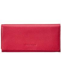 Longchamp Le Foulonne Leather Continental Wallet