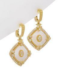 Judith Ripka - Westport 14k Over Silver 6.55 Ct. Tw. White Topaz & Mother-of-pearl Drop Earrings - Lyst