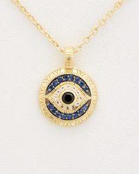 Judith Ripka - Lucky 14k Over Silver 0.36 Ct. Tw. Gemstone Evil Eye Necklace - Lyst