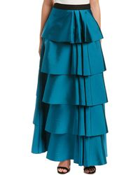 Lyst St John Liquid Crepe Gown Skirt With Pockets In Red