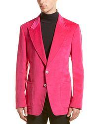 Tom Ford Velvet Linen-blend Blazer