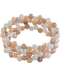 Splendid - Splendid Freshwater Pearls 6-7mm Freshwater Pearl Stretch Bracelet - Lyst