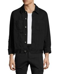 Maison Margiela - Solid Spread Collar Denim Jacket - Lyst