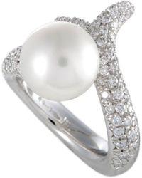 Mikimoto - 18k 1.10 Ct. Tw. Diamond & 11-12mm Pearl Ring - Lyst