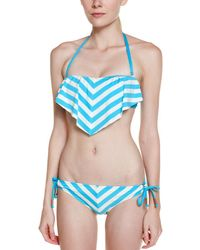 Ella Moss - Cabana Blue Stripe Tie Bottom - Lyst