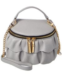 MILLY - Astor Ruffle Leather Crossbody - Lyst