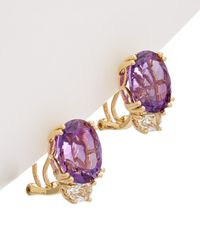 Effy - Fine Jewelry 14k Amethyst 7.50 Ct. Tw. Amethyst & Topaz Earrings - Lyst