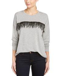 Kensie - Fringe Sweatshirt - Lyst