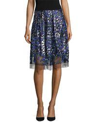 Elie Tahari - Nicolette Floral Embroidered Skirt - Lyst