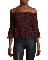 Likely - Stockton Embroidered Lace Top - Lyst