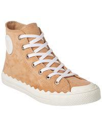 Chloé - Kyle Suede High-top Sneaker - Lyst