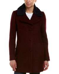 Laundry by Shelli Segal - Boucle Wool-blend Coat - Lyst