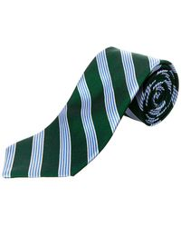 Brooks Brothers - Green Stripe Silk Tie - Lyst