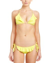 Shoshanna - Lemon Ruffle String Bottom - Lyst