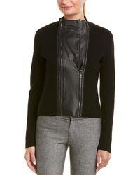 Elie Tahari Wool & Leather Jacket
