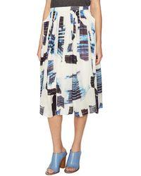 Tibi - Oki Origami Silk Midi Skirt - Lyst