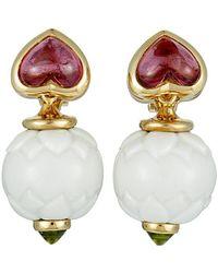 BVLGARI - Bulgari 18k Tourmaline Earrings - Lyst