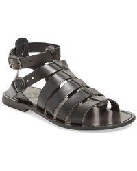 Miramare Italia - Leather Gladiator Sandal - Lyst
