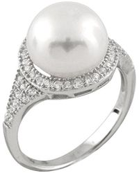 Splendid - Splendid Pearl Silver 10-11mm Freshwater Pearl & Cz Ring - Lyst
