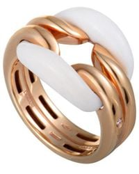 Damiani - 18k Rose Gold Agate Ring - Lyst