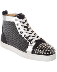 17ae75243bf Christian Louboutin Lou Degra Suedehigh Top Sneaker in Gray for Men ...