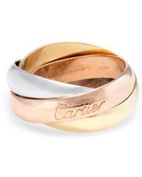 Cartier - Cartier Trinity 18k Tri-tone Size 10.75 Ring - Lyst