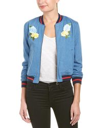 Ei8ht Dreams Ei8ht Dreams Cropped Bomber Jacket - Blue